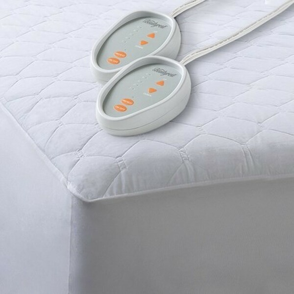 Beautyrest Cotton Blend Heated Mattress Pad -Queen BR55-0200 By Olliix