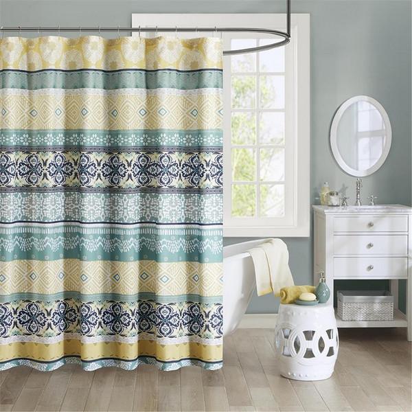 "100% Microfiber Printed Shower Curtain -72X72"" ID70-786 By Olliix"