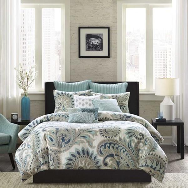 Ink Ivy Mira 3 Piece 100% Cotton Comforter Set -Full/Queen II10-089 By Olliix