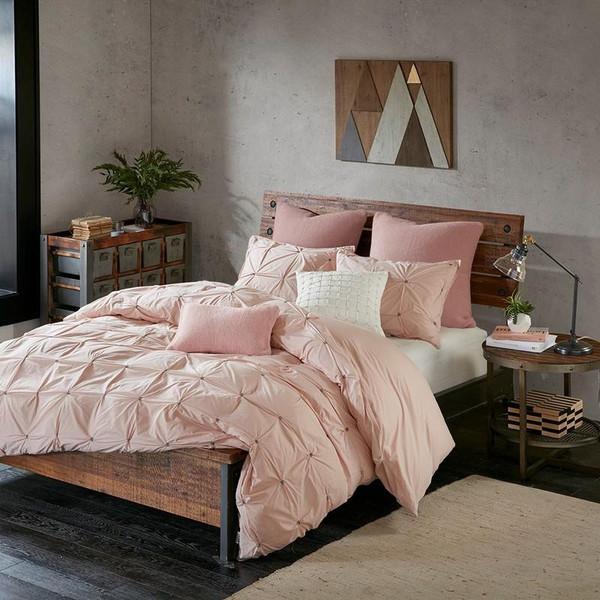 3 Piece Elastic Embroidered Cotton Comforter Set -Full/Queen II10-1012 By Olliix