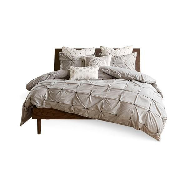 Ink Ivy Masie 3 Piece Elastic Embroidered Cotton Comforter Set By Olliix