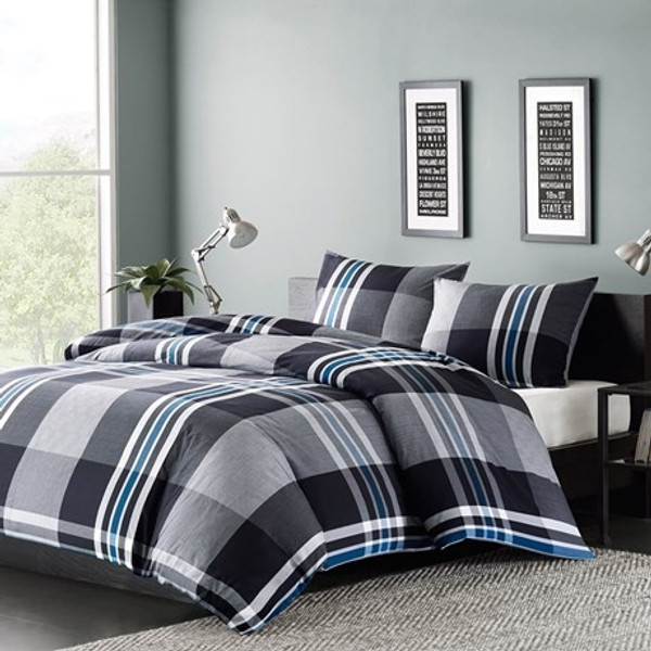 Ink Ivy Nathan Duvet Cover Mini Set -Full/Queen II12-056 By Olliix
