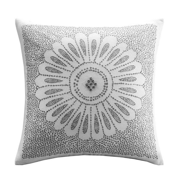 "Ink Ivy Sofia Embroidered Decorative Pillow -20X20"" II30-609 By Olliix"