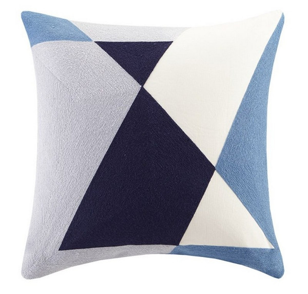 """Ink Ivy Aero Embroidered Abstract Square Pillow -20X20"""" II30-792 By Olliix"""