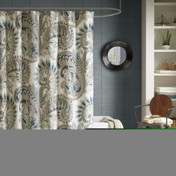 """Ink Ivy Mira 100% Cotton Printed Shower Curtain -72X72"""" II70-233 By Olliix"""