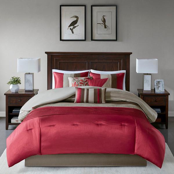 Madison Park Amherst 7 Piece Comforter Set -King MP10-038 By Olliix