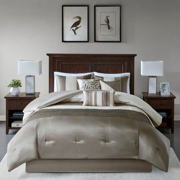 Madison Park Amherst 7 Piece Comforter Set - Cal King MP10-123 By Olliix