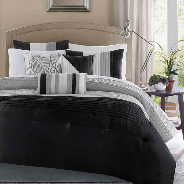 Madison Park Amherst 7 Piece Comforter Set -King MP10-226 By Olliix
