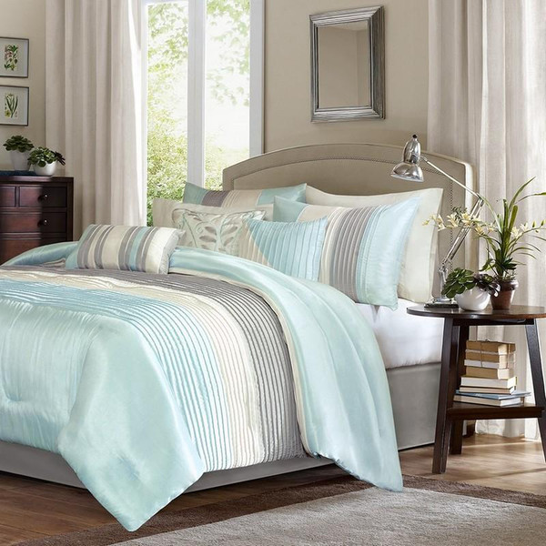 Madison Park Amherst 7 Piece Comforter Set - Cal King MP10-2981 By Olliix