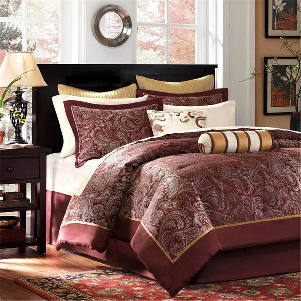 Madison Park Aubrey 12 Piece Complete Bed Set - Cal King MP10-321 By Olliix