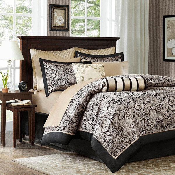 Madison Park Aubrey 12 Piece Complete Bed Set -Queen MP10-333 By Olliix