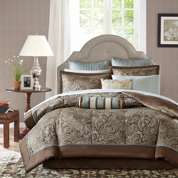 Madison Park Aubrey Elsa 12 Piece Complete Bed Set Full - MP10-657 By Olliix
