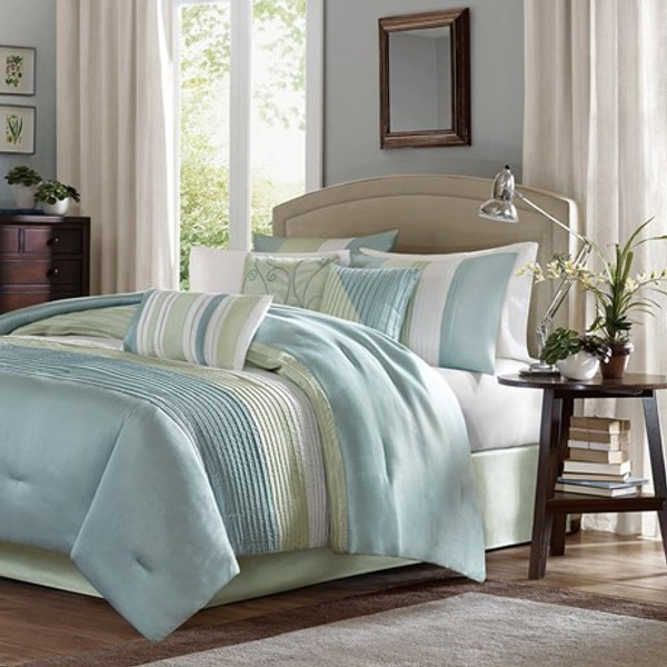 Madison Park Amherst 7 Piece Comforter Set - Cal King MP10-848 By Olliix