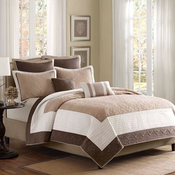 Madison Park Attingham 7 Piece Coverlet Set -King/Cal King MP13-241 By Olliix