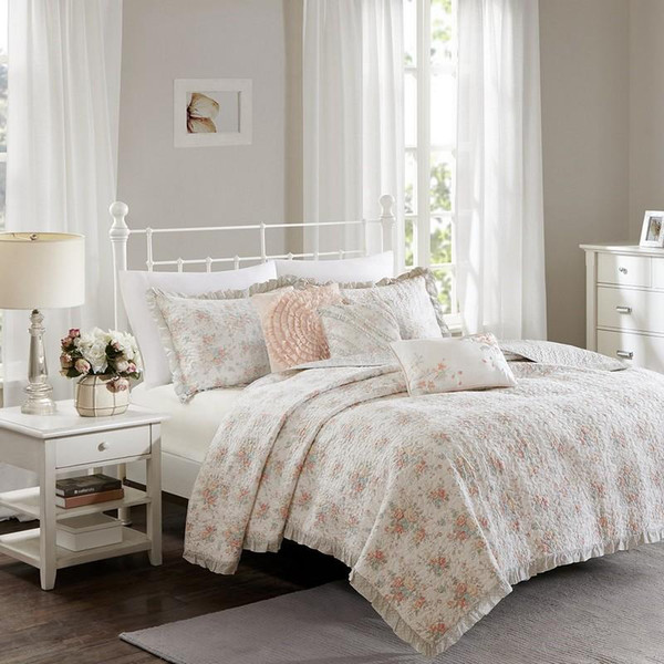Madison Park Cotton Percale Coverlet Set -King/Cal King MP13-3547 By Olliix