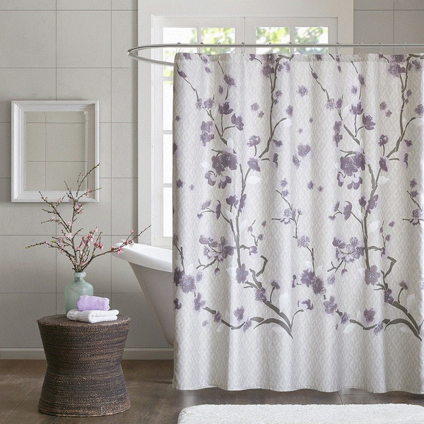 """Madison Park Holly Cotton Shower Curtain -72X72"""" MP70-4172 By Olliix"""