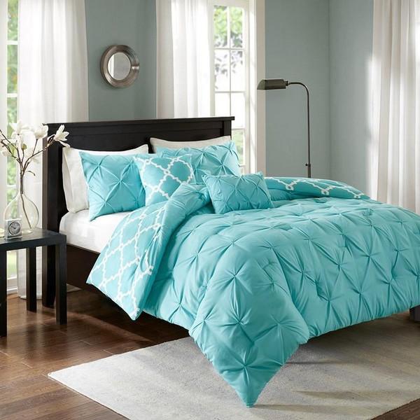 5 Piece Reversible Comforter Set -Full/Queen MPE10-350 By Olliix