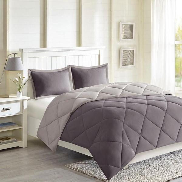 3M Scotchgard Diamond Quilting Comforter Set -Twin/Twin Xl MPE10-614 By Olliix