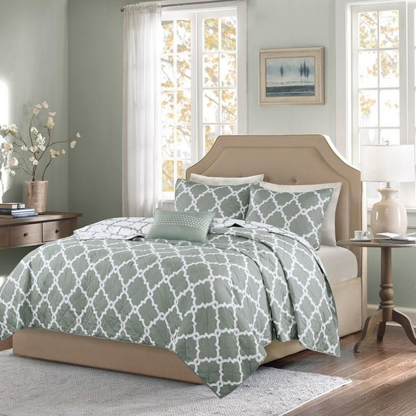 4 Piece Reversible Coverlet Set -Full/Queen MPE13-134 By Olliix
