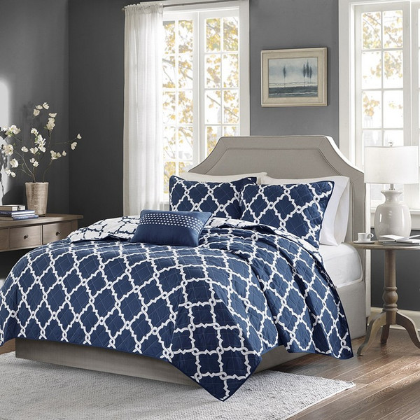 4 Piece Reversible Coverlet Set -Full/Queen MPE13-240 By Olliix