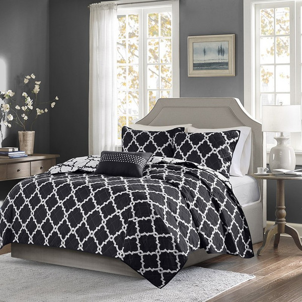 4 Piece Reversible Coverlet Set -Full/Queen MPE13-244 By Olliix