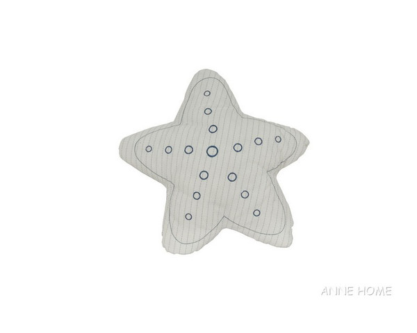 AB005 Star Pillow - White By Old Modern Handicrafts