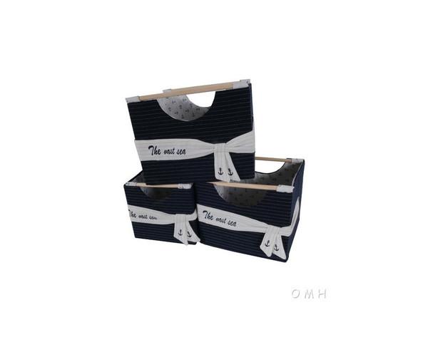AB011 Set Of 3 Foldable Fabric Basket