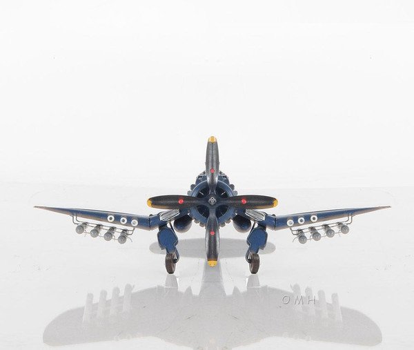 AJ002 Decorative 1944 F4U-4 Corsair 1:40 Helicopter