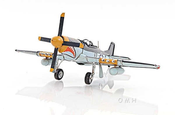 AJ003 Decorative 1943 Grey Mustang P51 1:40 Helicopter