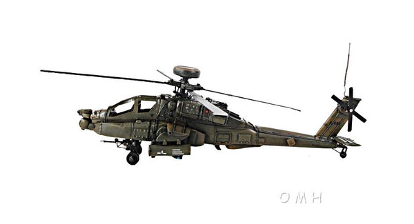 AJ008 Decorative Ah-64 Apache 1:24 Helicopter