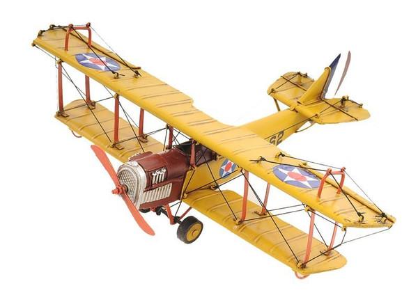 AJ015 Decoration 1918 Yellow Curtiss Aeroplane JN-4 1:24