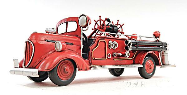 AJ020 Decoration 1938 Red Fire Engine Ford Truck 1:40
