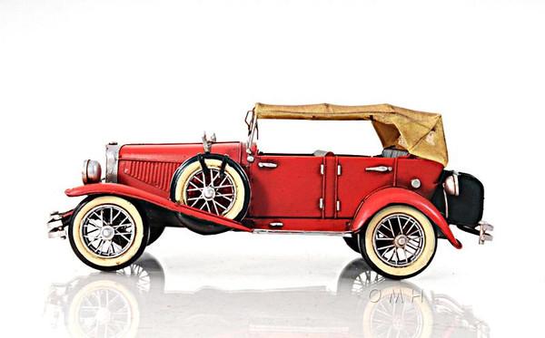 AJ026 Decoration 1933 Red Duesenberg Convertible Car J 1:12
