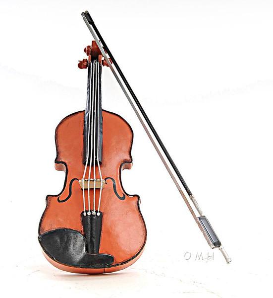 AJ031 Decoration Orange Vintage Violin 1:2 by Old Modern Handicrafts