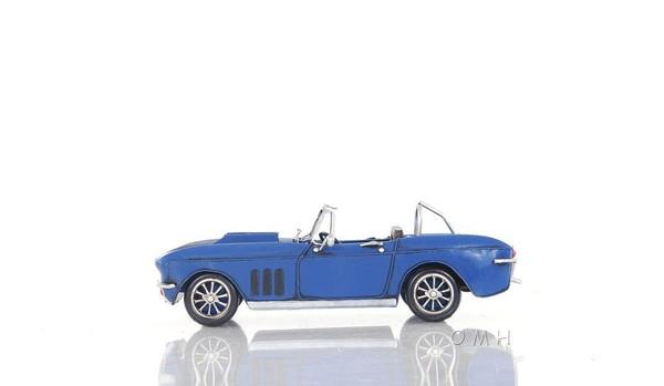 AJ039 Decoration Blue Chevrolet Corvette Car by Old Modern Handicrafts