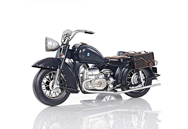 AJ042 Decoration Black Vintage Motorcycle by Old Modern Handicrafts