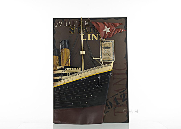 AJ044 Titanic Front Bow 3D Painting by Old Modern Handicrafts
