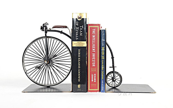 AJ050 1870 The High Wheeler Bookend by Old Modern Handicrafts