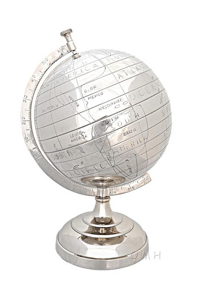 "AK003 Aluminum 13"" Globe by Old Modern Handicrafts"