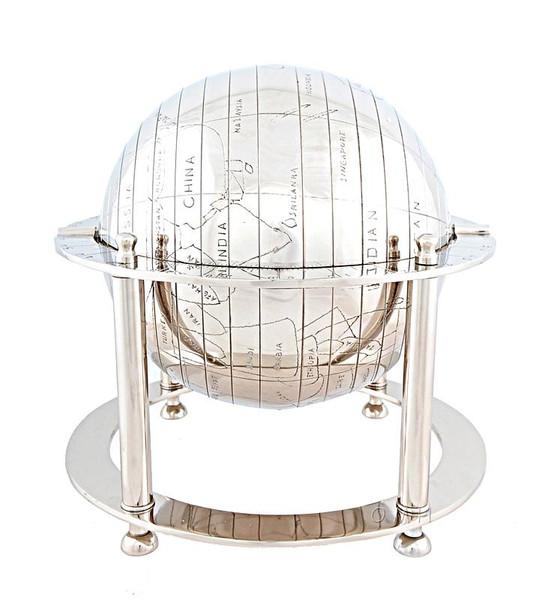 AK015 Aluminium Globe by Old Modern Handicrafts