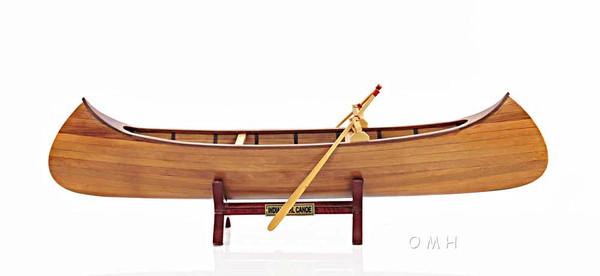 B013 Indian Girl Canoe Model by Old Modern Handicrafts