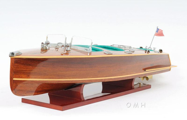 B040 Chris Craft Triple Cockpit Boat Model by Old Modern Handicrafts