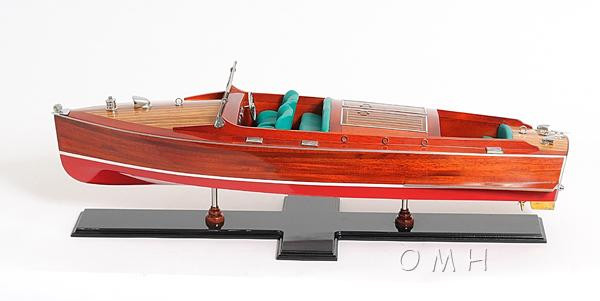 B060 Chris Craft Runabout Painted Boat Model by Old Modern Handicrafts