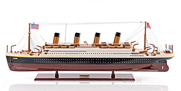 C016 Titanic Painted Small Ship Model by Old Modern Handicrafts