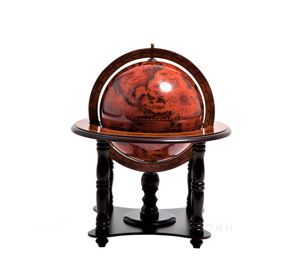 NG007 Old World Map Globe on Base by Old Modern Handicrafts
