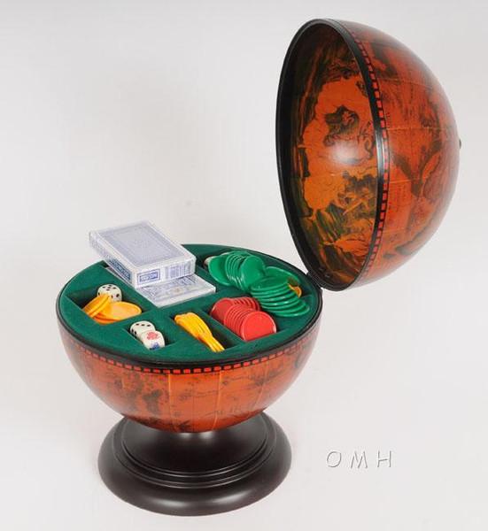 NG017 Globe Poker Set by Old Modern Handicrafts