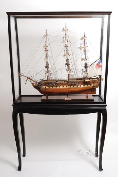 P010 Floor Display Case with Legs by Old Modern Handicrafts