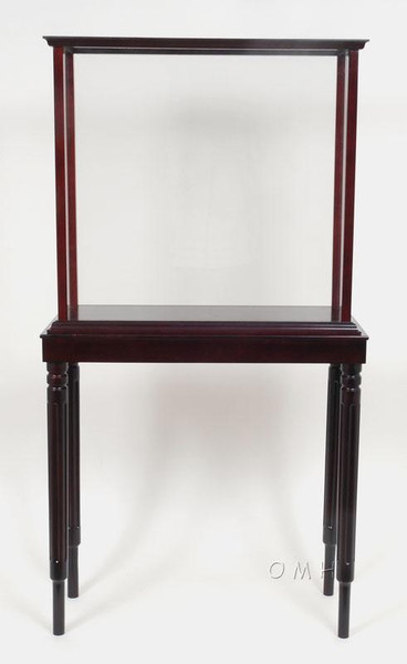 P035 Floor Mahogany Display Case with Legs - Small