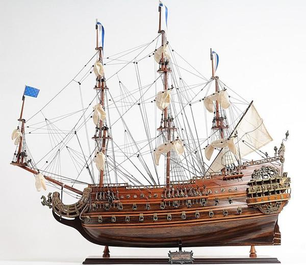 T071 Soleil Royal Ship Model - Medium by Old Modern Handicrafts