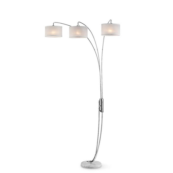 K-9744 Ore International 85 Inch Silver Polished Arch Lamp